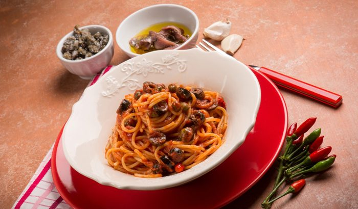 Spaghetti with Anchovy Sauce