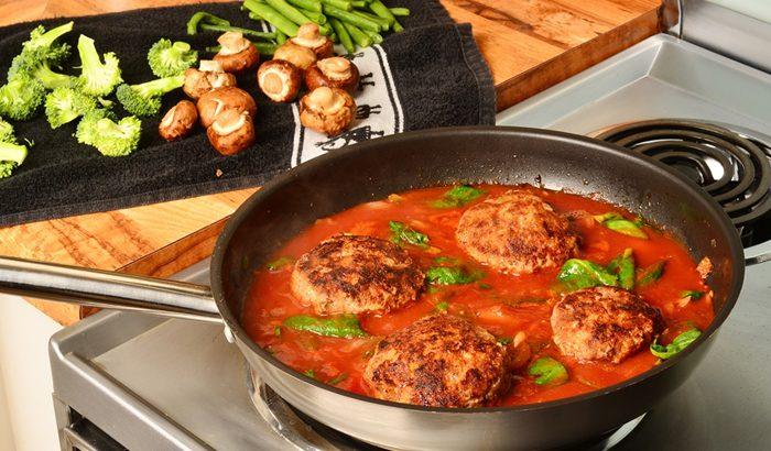 Salisbury Steaks with Tomato