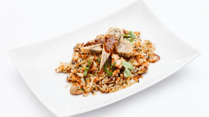 rice whit vegetables mediterranean diet