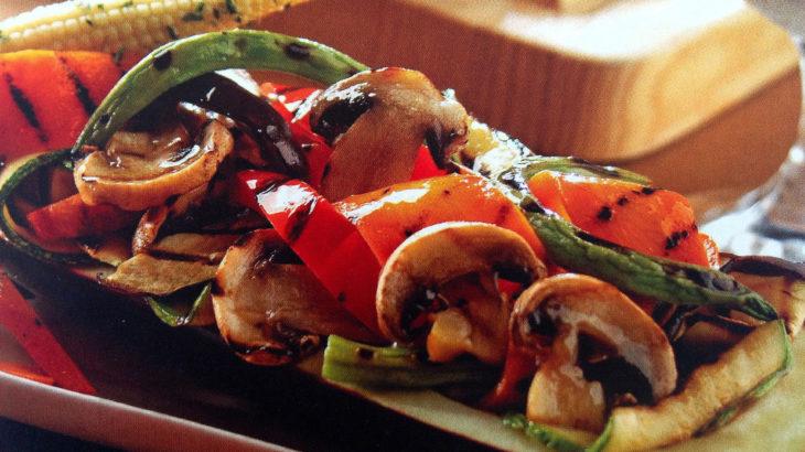 Stuffed eggplant with vegetables