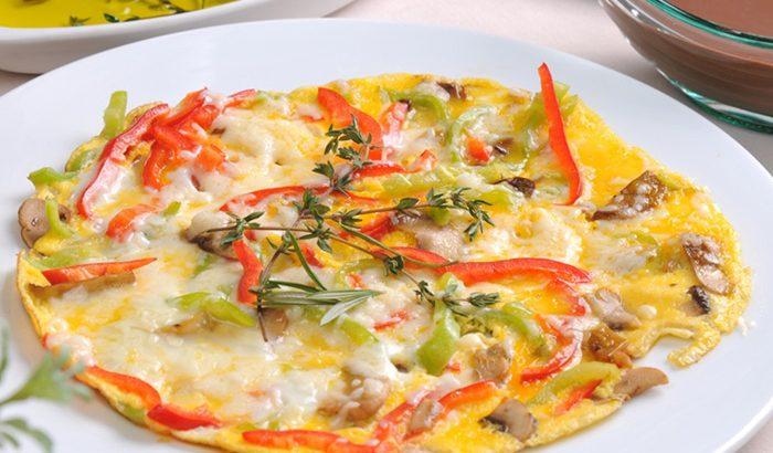 Omelet au Gratin with Vegetables