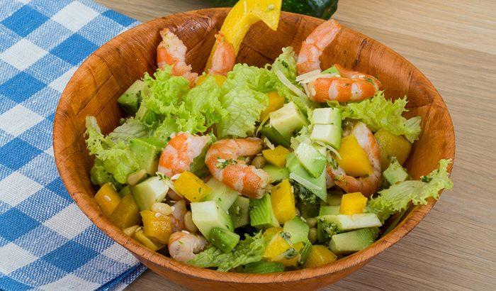 Prawn and Kiwi Salad